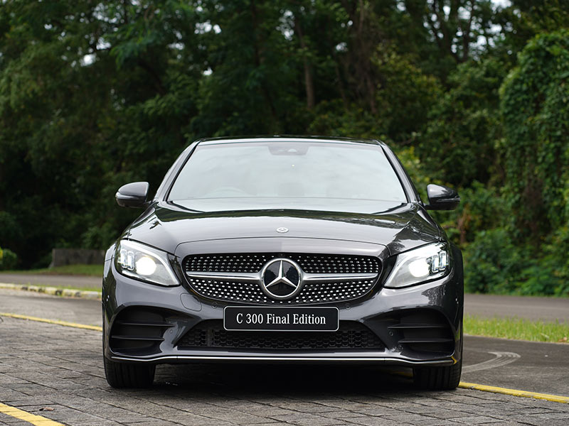 mercedes-benz c300 final edition - front